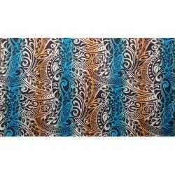 June Fabrics BQ-11-788R ORANGE-TURQ