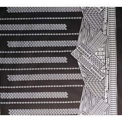 June Fabrics LW-16-493 WHITE-BLACK