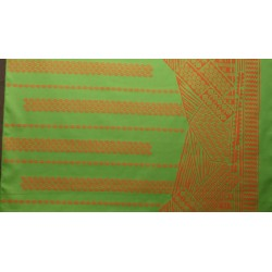 June Fabrics LW-16-493 ORANGE-GREEN