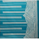 June Fabrics LW-16-493 TAN-TEAL