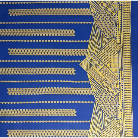 June Fabrics LW-16-493 YELLOW-NAVY