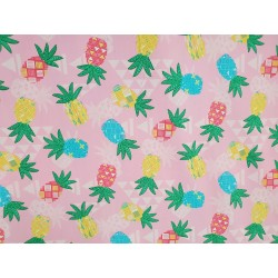 Cotton Pineapple Tribal in Pink