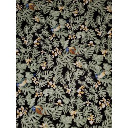 Cotton Tropical Parrot Black