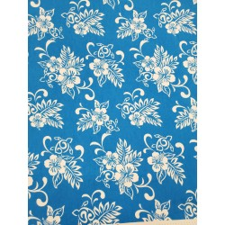 Cotton Flannel Print Blue