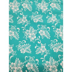 Cotton Flannel Print Aqua