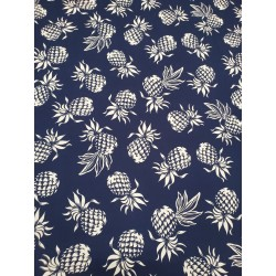 Cotton Pineapple Navy