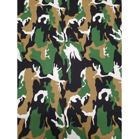 Cotton Camouflage Green