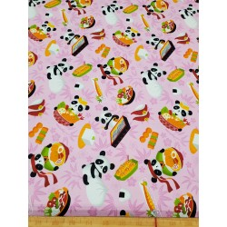 Cotton Foodie Panda Pink