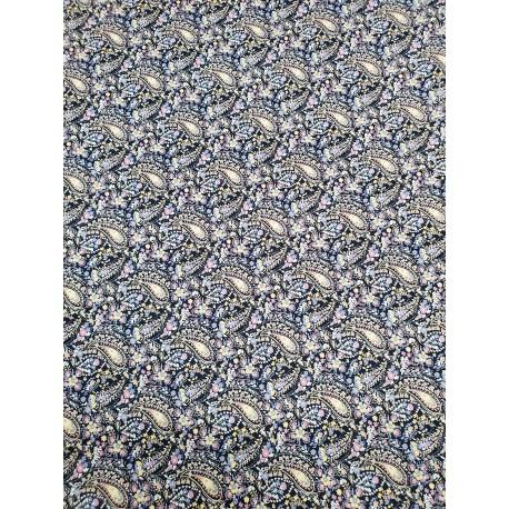 Cotton Paisley Blue