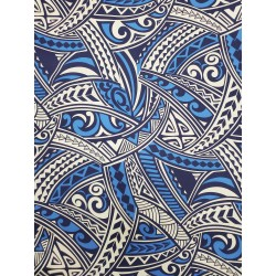 Cotton Tribal Blue